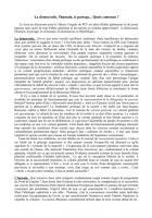 La démocratie, l'humain, le partage... Quels contenus ? par Gérard Loustatet