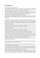 De la démocratie par Jean-Pierre Merlo