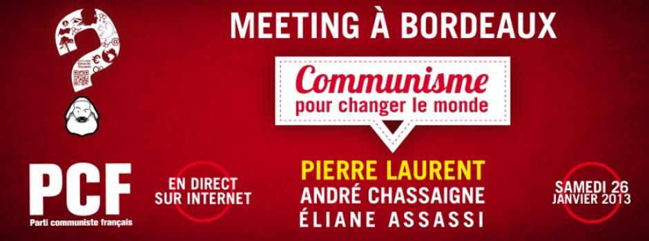 Communisme pour changer le monde - Meeting à Bordeaux